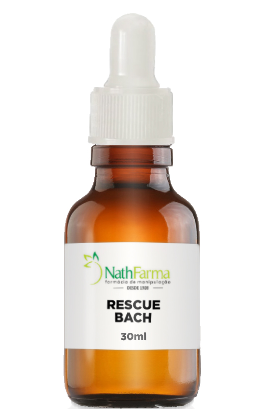 Floral Rescue Remedy Manipulado 30ml | NathFarma | Remédio para stress