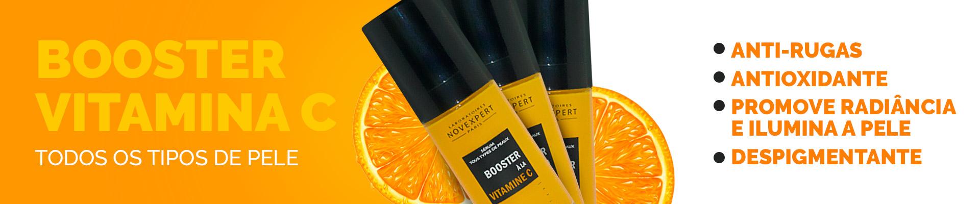 Booster Serum Vitamina C, envelhecimento, antioxidante, clareador, antiidade, antiaging